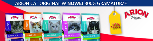 karma sucha dla kotów Arion Cat Original 300g