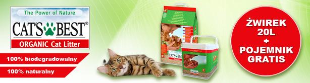 Cat's Best Eco Plus 20L + POJEMNIK